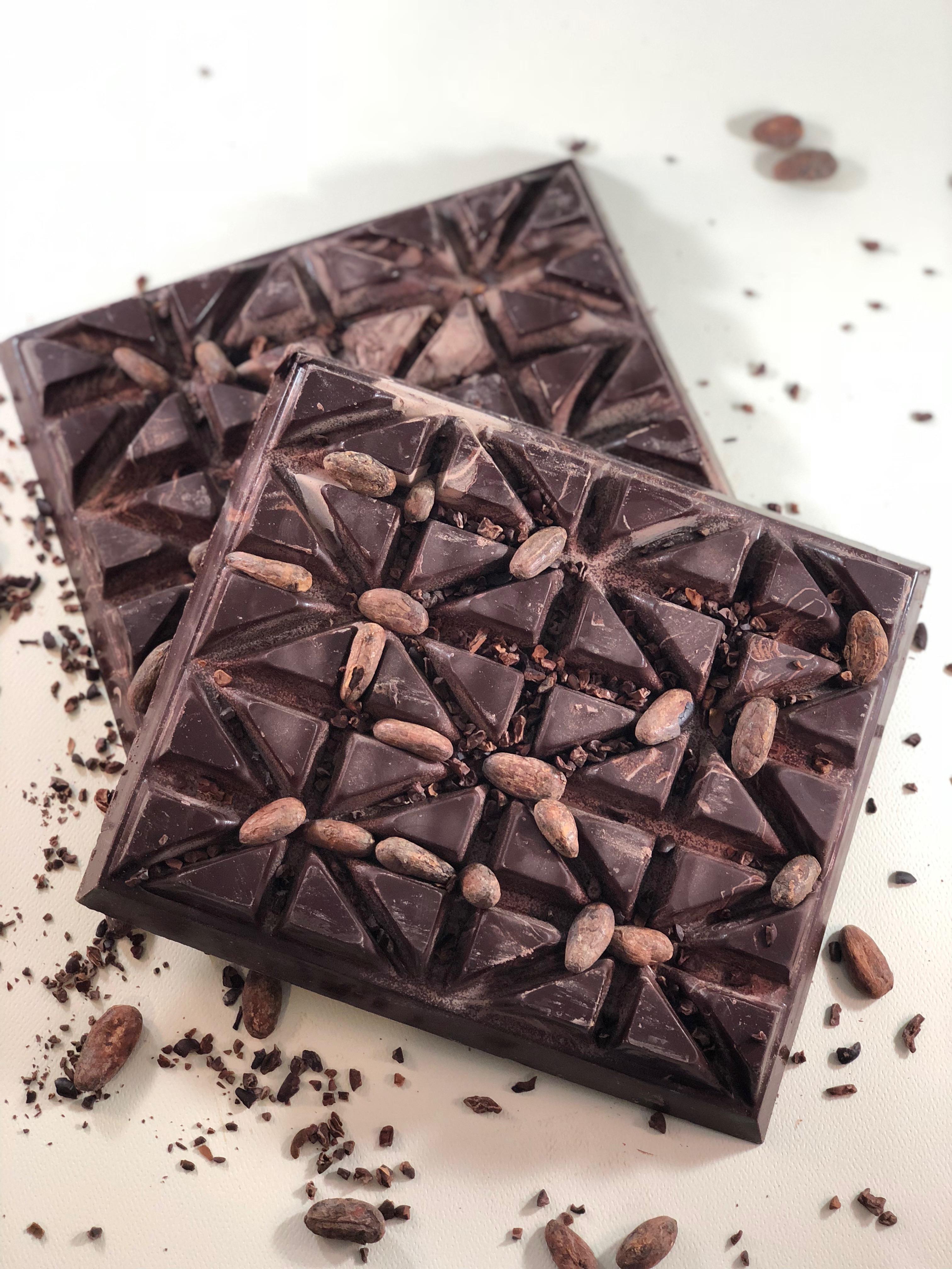 untempered chocolate block