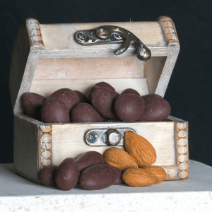 Treasure Chest with Chocolate Almonds