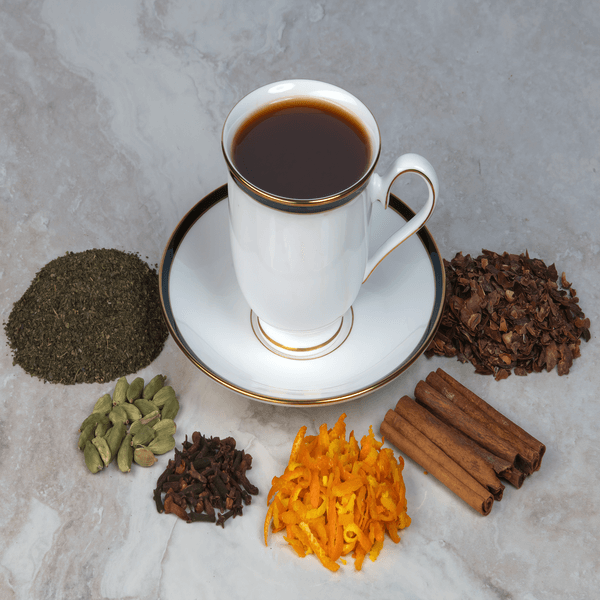 Chocolate Green Chai with Orange Peel tea